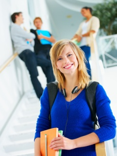 Portait of young student